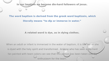 """Baptism and """"Dyeing"""""""