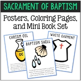 Baptism - Sacrament Posters, Coloring Pages, and Mini Book Set