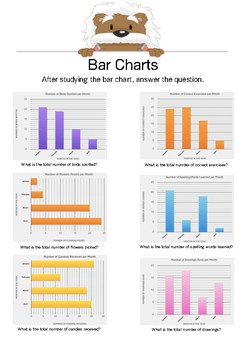Bar Charts 5 - Answer the questions - Gr. 4-6