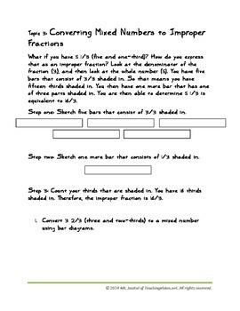 Bar Diagram Modeling-- Basic Fraction Concepts, Grades 3-6+