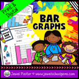 Bar Graphs Worksheets and Activities with Google™ Slides Version