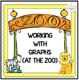 Bar Graph, Line Graph, Pie Chart Worksheets (Zoo Theme)