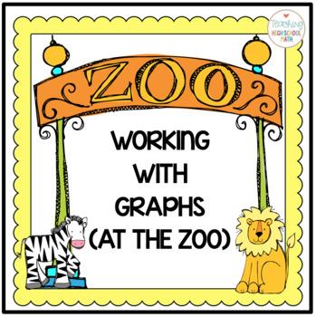 Bar Graph, Line Graph, Pie Chart Worksheets (Zoo Theme)