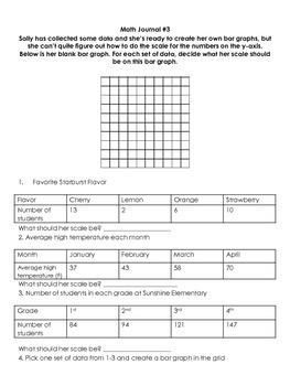 Bar Graph Math Journal