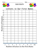 Bar Graph - Number of Letters in Our First Names
