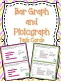 Bar Graph & Pictograph Task Cards (Boom Cards also Included)