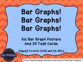 Bar Graph Posters - 6 Bar Graphs and 24 Tasks Cards