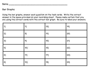 Bar Graph Posters - 6 Bar Graphs and 24 Tasks Cards