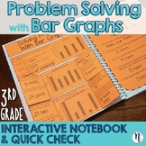 Bar Graph Problem Solving Interactive Notebook Activity & Quick Check TEKS 3.8B