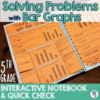 Bar Graph Problem Solving Interactive Notebook Activity & Quick Check TEKS 5.9C