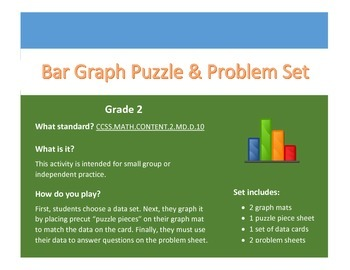 Bar Graph Puzzle & Problem Set - Grade 2