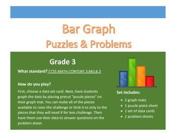 Bar Graph Puzzles & Problems Center - Grade 3