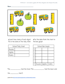 Bar Graph Tally Chart Practice