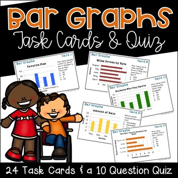 Bar Graph Task Cards and Quiz
