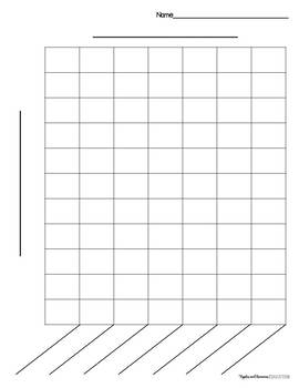 Bar graph templates by apples and bananas education tpt for Temperature line graph template