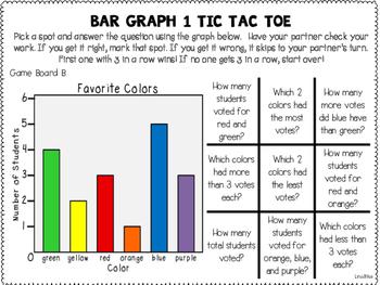 Bar Graph Tic Tac Toe