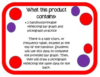 Bar Graph and Pictograph Data  Activity/Assessment