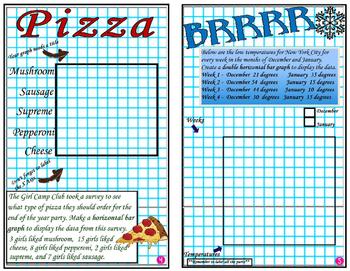 Bar Graphs - Graphing - Graph It!   Mini Book 3 -  Make a Graph