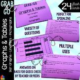 Bar Graphs, Line Plots, Pictographs Grab & Go Flash Cards