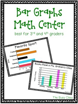 Bar Graphs Math Center (3rd-4th)