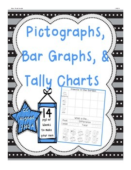 Bar Graphs, Tally Charts, Pictographs 1.MD.4 CC Aligned