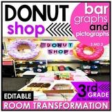 Bar Graphs and Pictographs   3rd Grade Donut Shop Classroom Transformation