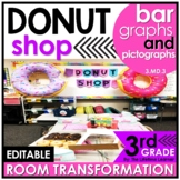 Bar Graphs and Pictographs   3rd Grade Donut Shop Room Tra