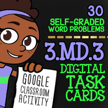 BAR GRAPHS & PICTOGRAPHS Task Cards | Self-Graded Google Classroom For 3rd Grade