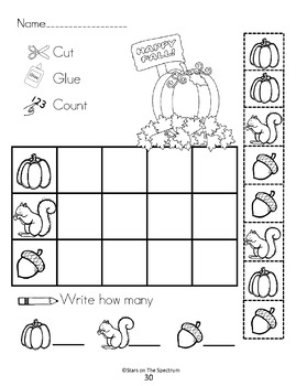 Bar Graphs * Fall Bar Graph Worksheets