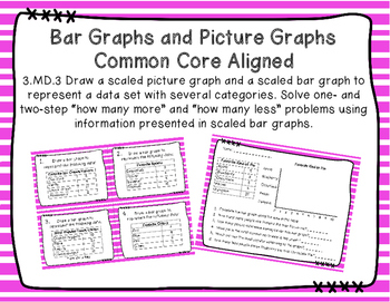 Creating Bar Graphs and Picture Graphs Task Cards
