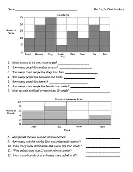 Bar & Line Graphs Lesson Unit with materials - Math