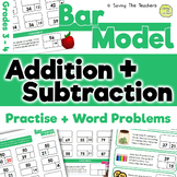 Bar Model Addition and Subtraction Practise and Word Problems: Grades 3 - 4