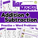 Bar Model Addition and Subtraction Practise and Word Problems: Grades K - 1
