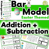 Bar Model Easter Addition and Subtraction Word Problems: Kindergarten - Grade 1