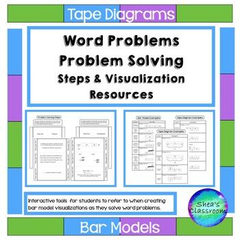 Tape Diagram-Problem Solving Interactive Notebook Activities