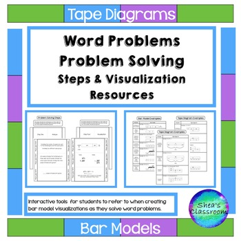 Problem Solving Tape Diagram Interactive Notebook Activities