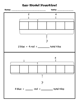 Bar Model Practice-addition
