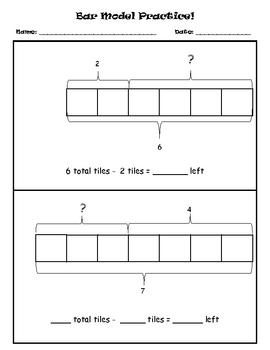 Bar Model Practice! (subtraction)