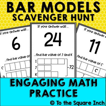 Bar Model Scavenger Hunt