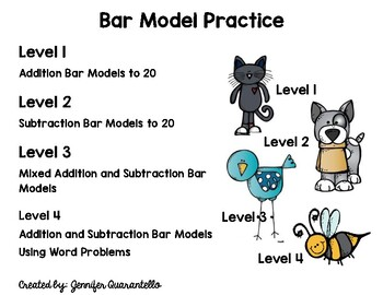 Bar Model Scoot and Solve-4 Levels