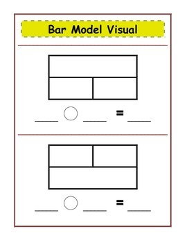 Bar Model Visual (Addition/Subtraction)