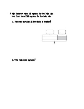 Bar Model Word Problems (addition and subtraction)