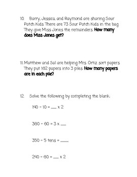 Bar Model Word Problems (multiplication and division)