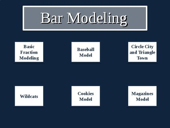 Bar Modeling Center - Singapore Math - PSSA - Common Core - Word Problems