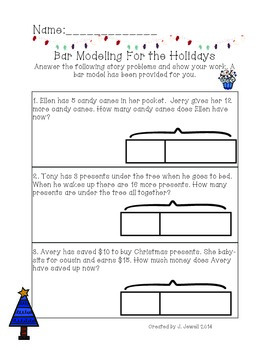 Bar Modeling For the Holidays {Math in Focus- Singapore}