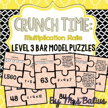 Bar Model Puzzles Level 3 Multiplication Rate
