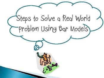 Bar Modeling Steps to Solve Real-World Problems