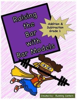 Bar Models: Word Problem Packet for 1st Grade Addition & Subtraction Centers