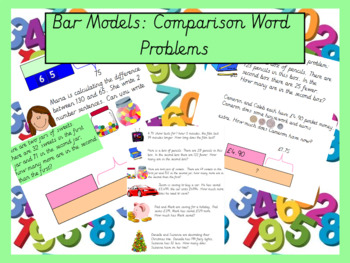 Bar Models: Word Problems Involving Comparision