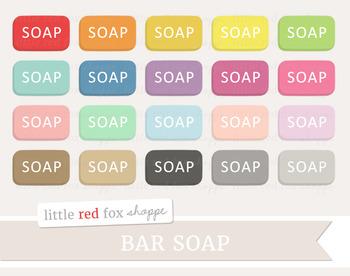 Bar Soap Clipart; Bathroom